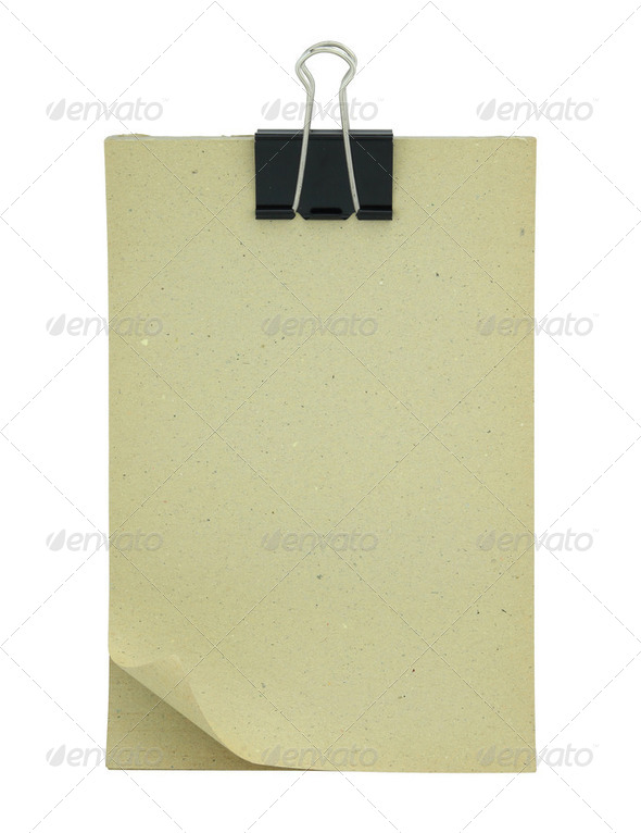 Blank paper clipboard isolated on white - Stock Photo - Images