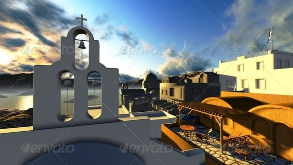 Santorini, Oia - Stock Photo - Images
