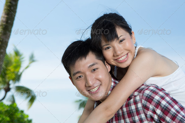 Happy Asian couple. - Stock Photo - Images