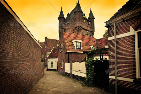 The historic architecture in Netherlands - Stock Photo - Images