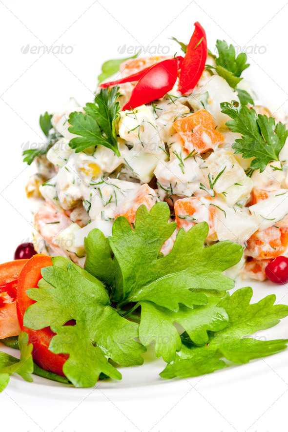Russian traditional salad - Stock Photo - Images
