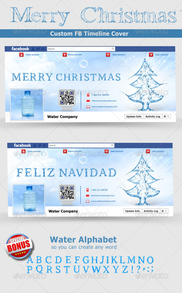 GraphicRiver Christmas FB Timeline 3337520