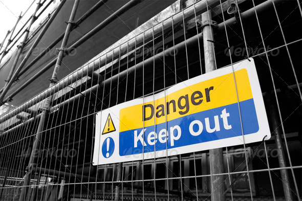 Danger Keep Out sign - Stock Photo - Images