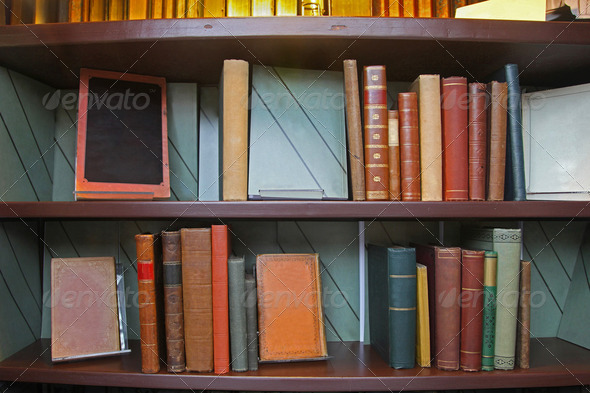 Old books library - Stock Photo - Images