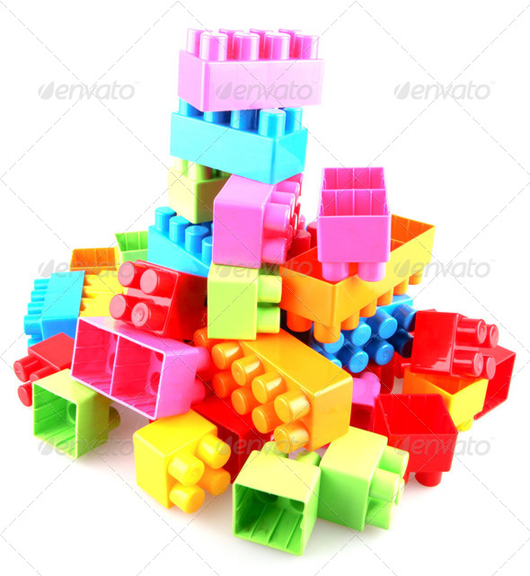 Plastic building blocks - Stock Photo - Images