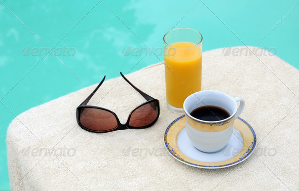 Coffee and Orange Juice - Stock Photo - Images