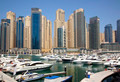 Dubai Marina cityscape. Yacht club - PhotoDune Item for Sale