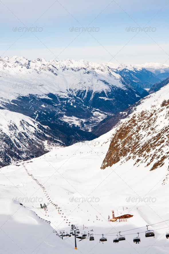 Ski resort  Hohrgurgl. Austria - Stock Photo - Images