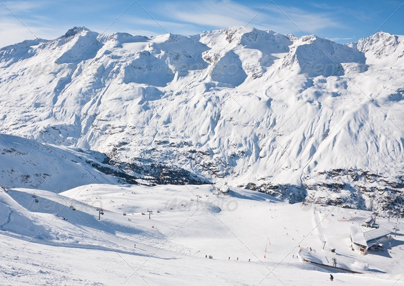 Ski resort  Obergurgl. Austria - Stock Photo - Images