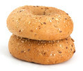 Two bagels on the white background - PhotoDune Item for Sale