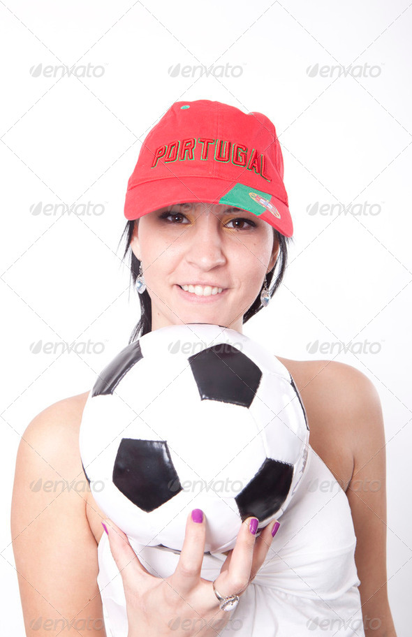 Portugal fan - Stock Photo - Images