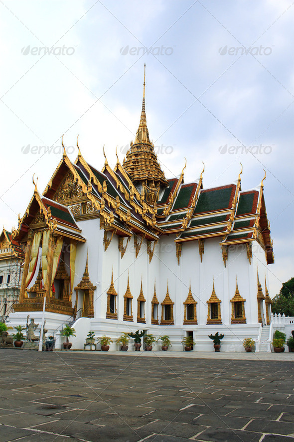 Royal grand palace in Bangkok, Thailand - Stock Photo - Images