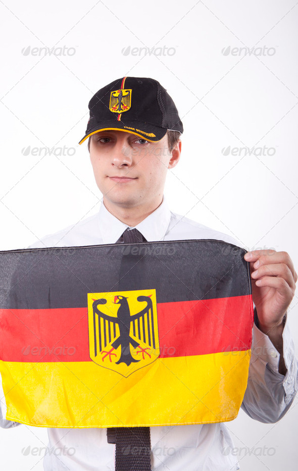 Germany fan - Stock Photo - Images