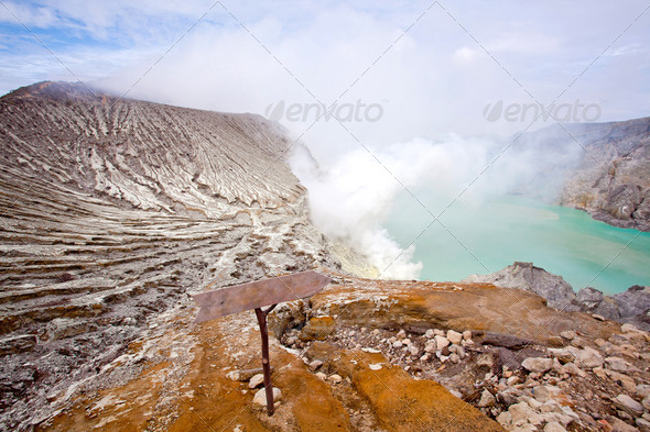 Ijen Crater Indonesia - Stock Photo - Images