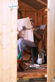 Man reading in garden shed - PhotoDune Item for Sale