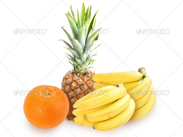 Heap of fresh tropical fruits - Stock Photo - Images
