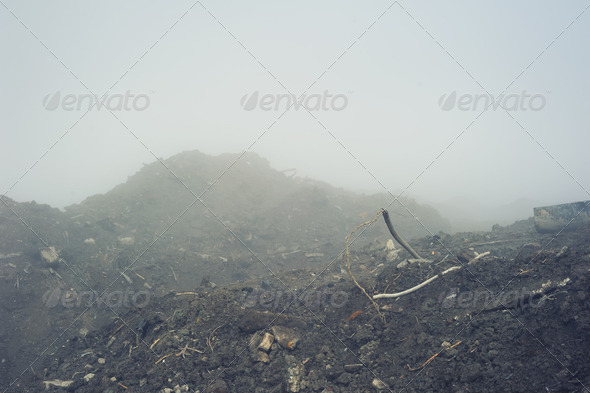 Landscape with fog - Stock Photo - Images