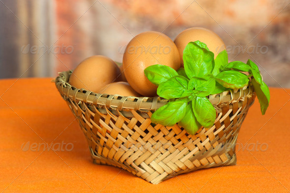 fresh eggs - Stock Photo - Images