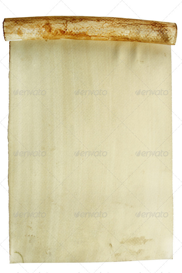 Old paper roll - Stock Photo - Images