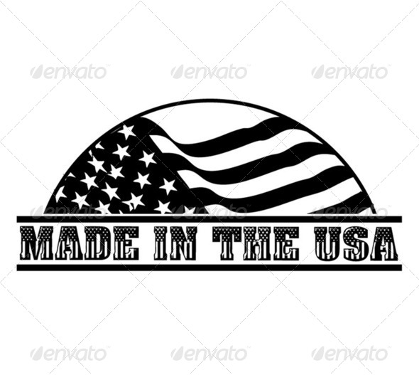 Made in the USA Logo - Stock Photo - Images