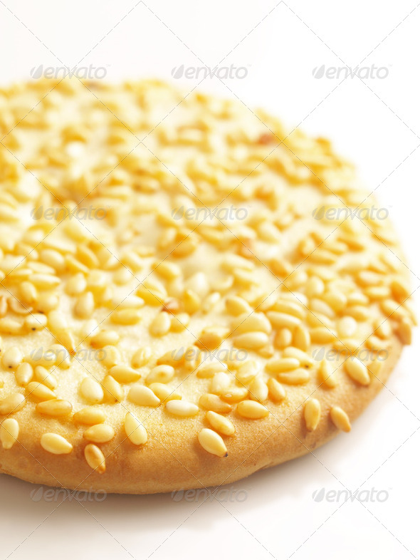 sesame biscuit - Stock Photo - Images