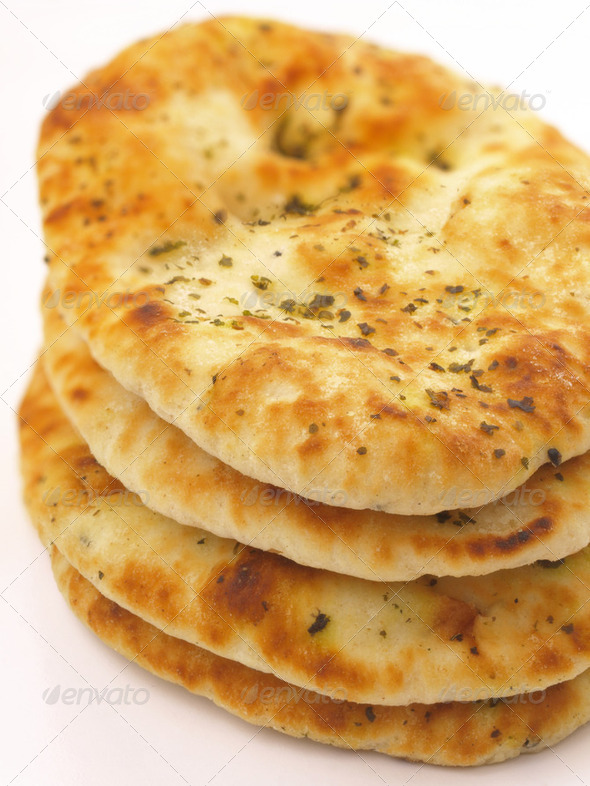 stack of indian naan bread - Stock Photo - Images