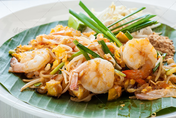 "Thailand style noodle ""Pad Thai"" - Stock Photo - Images"