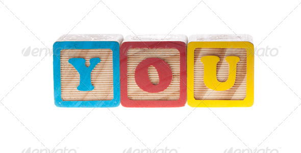 You wooden cubes - Stock Photo - Images