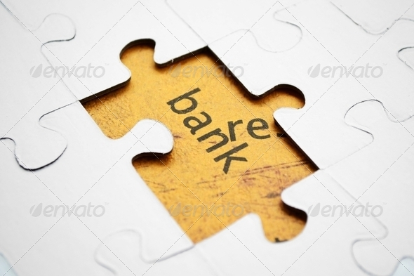 Bank puzzle - Stock Photo - Images