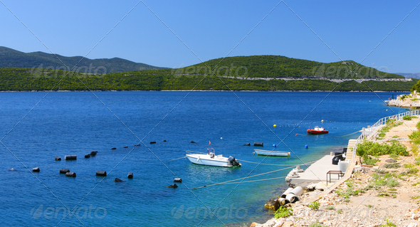 Beautiful colours of adriatic coast - Stock Photo - Images