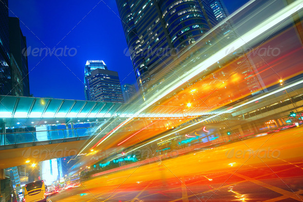traffic city night - Stock Photo - Images
