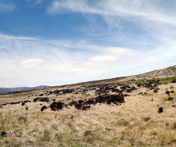 County Wicklow mountains - Stock Photo - Images