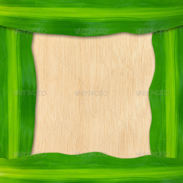 green leaves frame - Stock Photo - Images