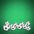 Football soccer ball craft grass background - PhotoDune Item for Sale