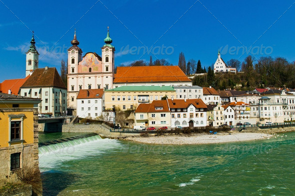 austria, steyr, old town - Stock Photo - Images