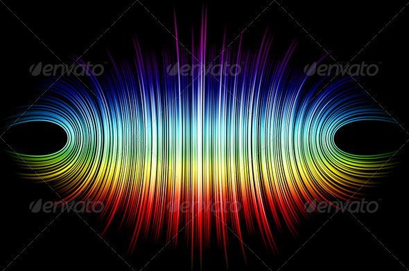 Colorful abstract lines for background - Stock Photo - Images