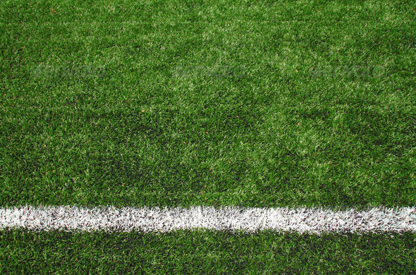 soccer field grass - Stock Photo - Images