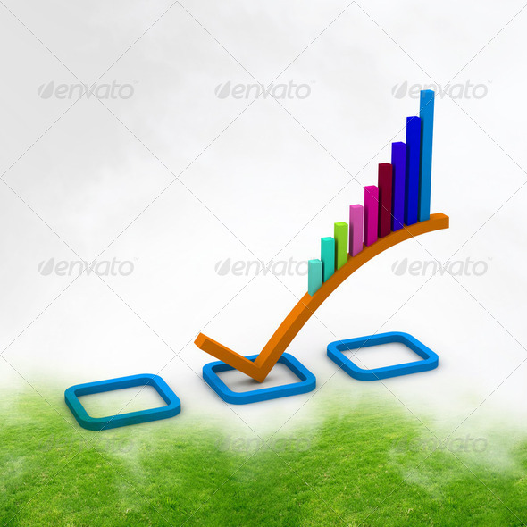 3d Business graph - Stock Photo - Images