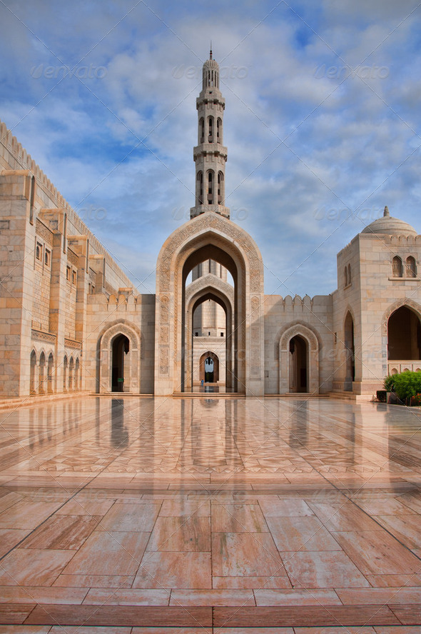 Reflections at Sultan Qaboos Grand Mosque - Stock Photo - Images