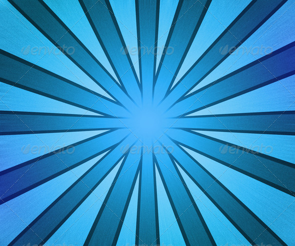 Blue Rays Background - Stock Photo - Images