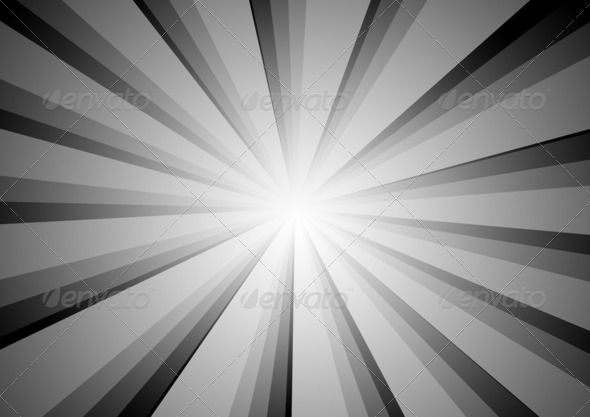 Radial Stripes Background (BW) - Stock Photo - Images