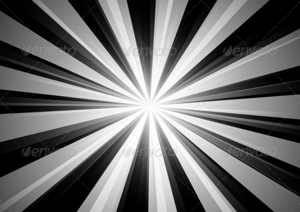 Radial Stripes Background (BW) 2 - Stock Photo - Images