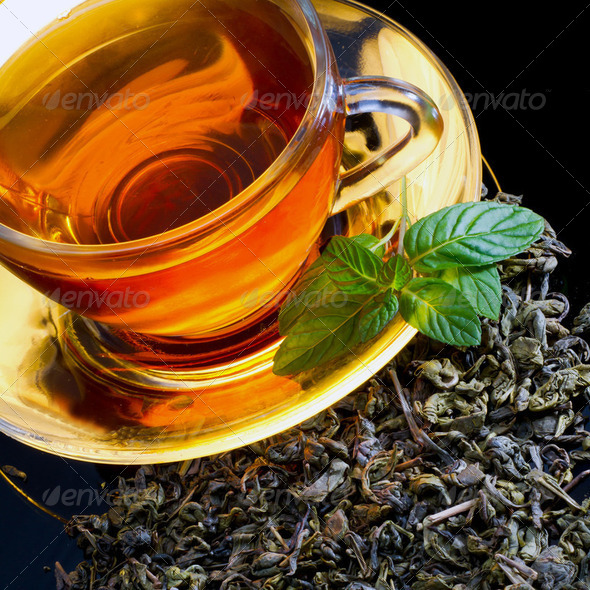 Tea and mint - Stock Photo - Images