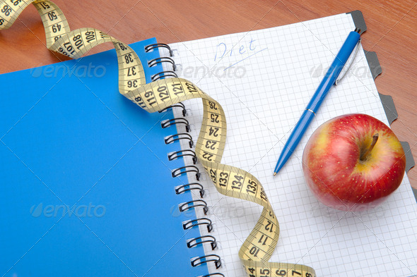 Planning of a diet - Stock Photo - Images