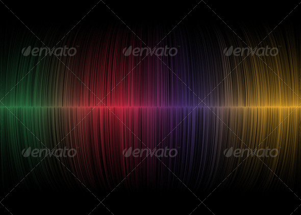 Abstract soundwaves  background - Stock Photo - Images