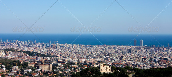 Overview of Barcelona - Stock Photo - Images