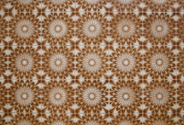 Vintage spanish style ceramic tiles - Stock Photo - Images