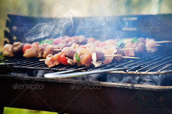Spring barbecue - Stock Photo - Images
