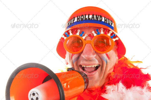 Dutch soccer fans - Stock Photo - Images