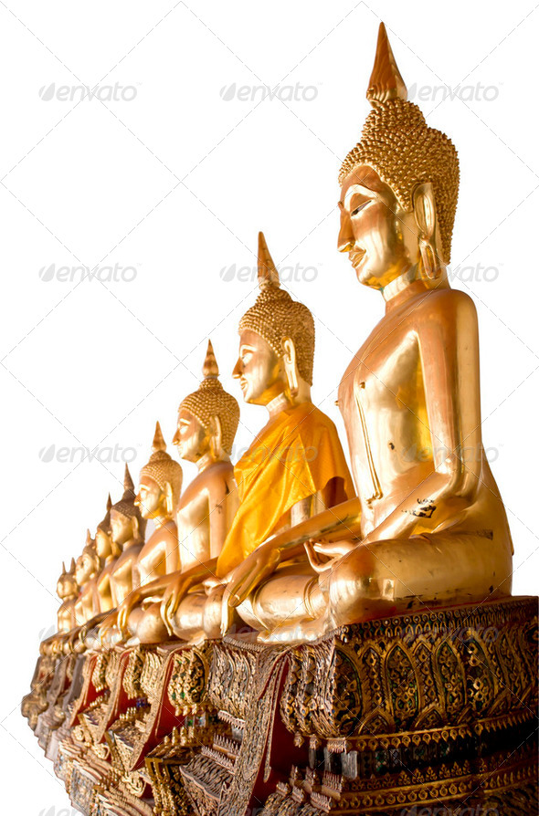 Buddha in Temple sequential - Stock Photo - Images